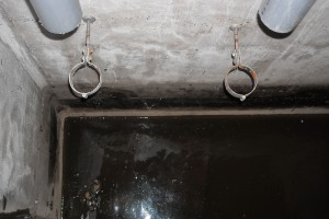 ポンプと配管を撤去