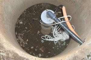 新しい水中深井戸ポンプです
