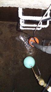 清掃後地下受水槽
