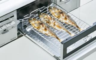 「焼き魚」に設定すれば火加減はコンロにお任せ。